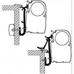 Kiinnityssarja Caravan adapter (3kpl)